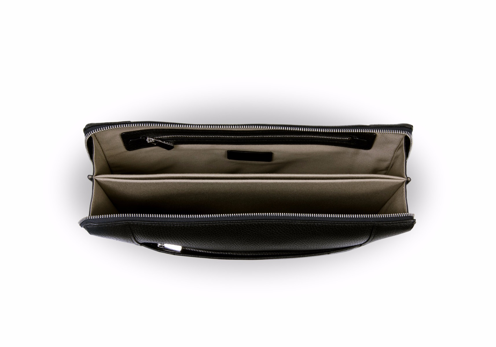 "Document case 13"" - Black - Granulated Leather"